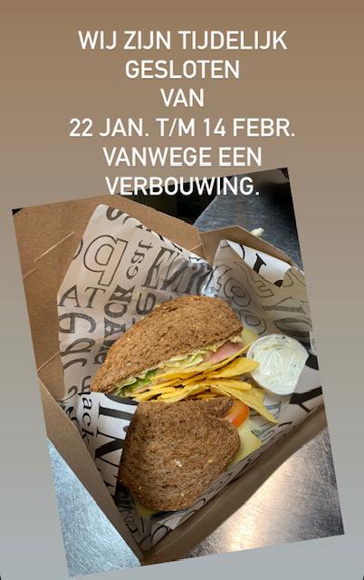 Wij zijn tijdelijk gesloten van 22 jan. t/m 24 febr. vanwege een verbouwing